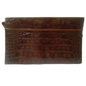 🇨🇦 Vintage genuine crocodile clutch